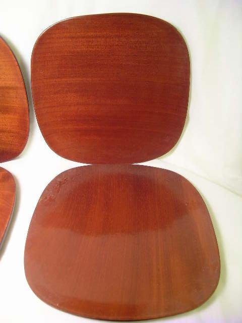 562: MONKEY POD WOOD HAITIAN WOOD PLATES 6 pc - 3