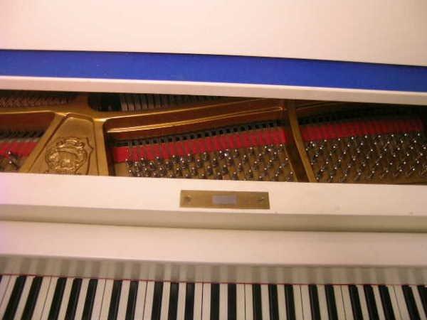755: GERMAN V BERDUX BABY GRAND PIANO WHITE FINISH - 3