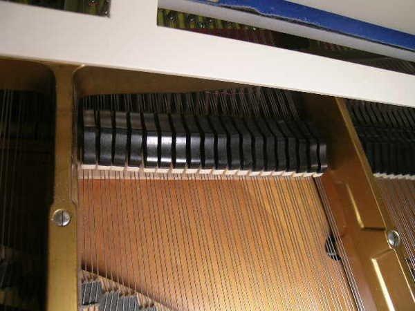 755: GERMAN V BERDUX BABY GRAND PIANO WHITE FINISH - 6
