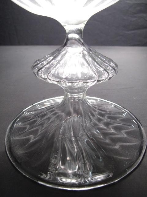 5: PAIR HAND BLOWN GLASS FLOWER VASES - 3