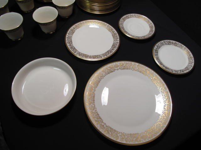 12: LENOX FINE CHINA DINNERWARE: TUSCANY PATTERN 78 PCS - 10