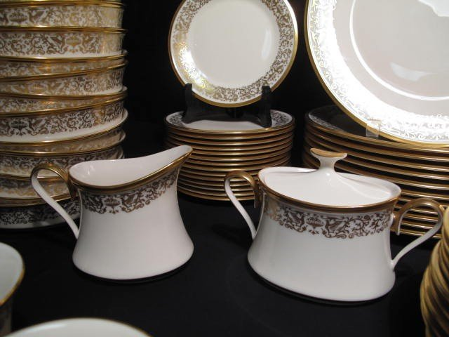 12: LENOX FINE CHINA DINNERWARE: TUSCANY PATTERN 78 PCS - 2
