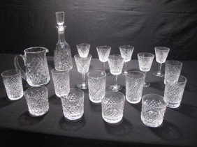 WATERFORD CRYSTAL GLASSWARE & DECANTER