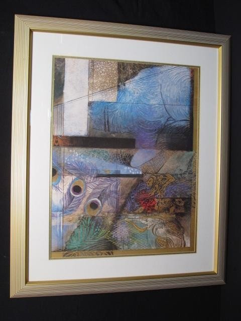 123: FRAMED ABSTRACT LITHOGRAPH