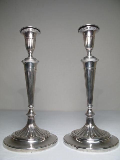 264: PAIR ENGLISH STERLING SILVER CANDLESTICKS