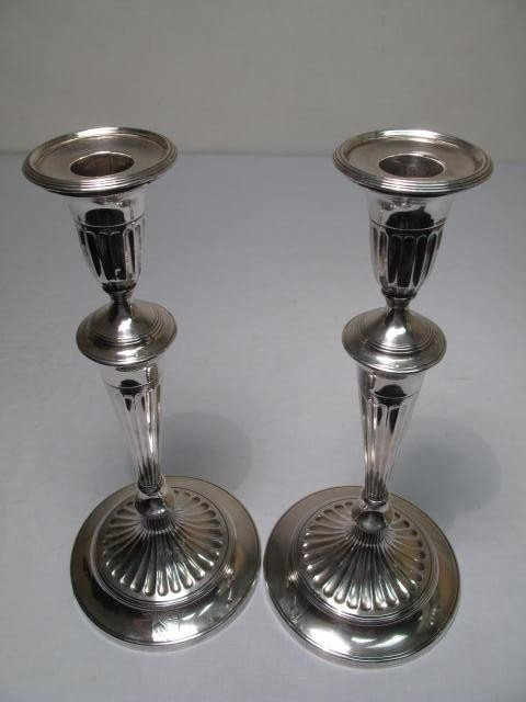 264: PAIR ENGLISH STERLING SILVER CANDLESTICKS - 2