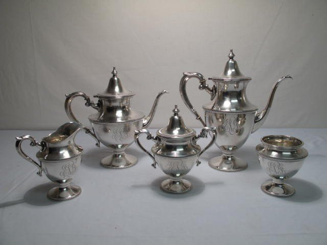 299: ARTCRAFT STERLING SILVER COFFEE & TEA SERVICE
