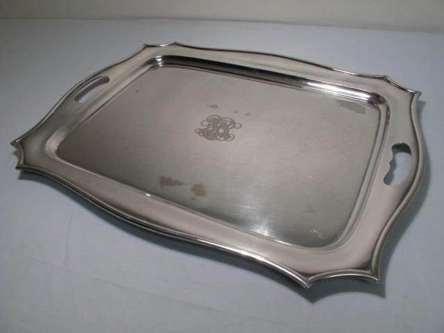 12: MONUMENTAL GORHAM SILVER PLATED TRAY