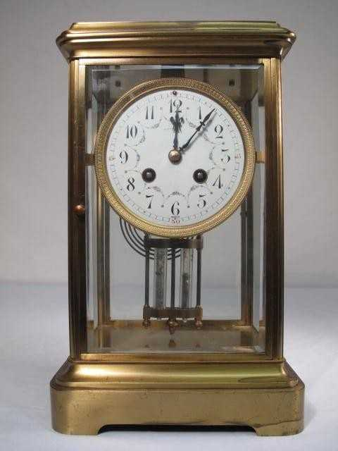 157 Tiffany Co Crystal Regulator Mantle Clock On Liveauctioneers