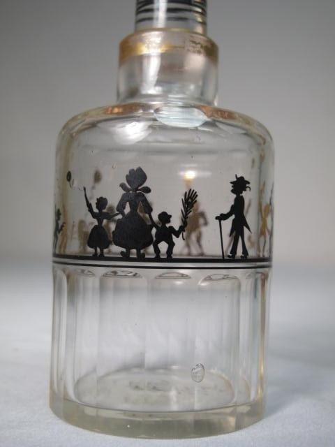 351: STEINSCHONAU ENAMELED GLASS SCENT BOTTLE SET - 4
