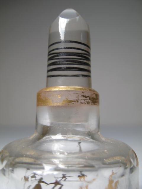 351: STEINSCHONAU ENAMELED GLASS SCENT BOTTLE SET - 5