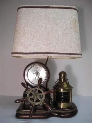 NAUTICAL BAROMETER DISPLAY AS LAMP