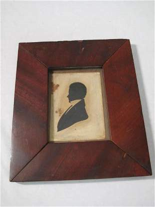 EARLY 19TH C SILHOUETTE OF GENTLEMAN