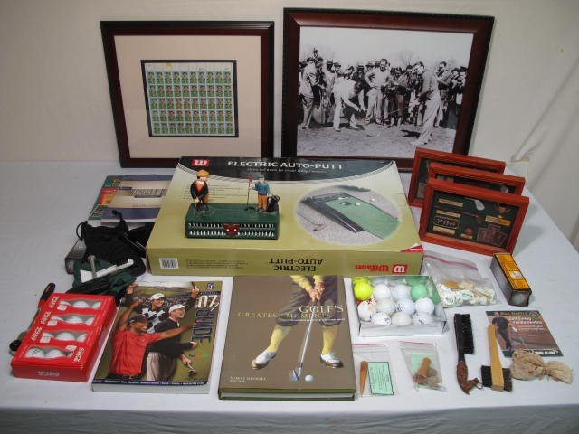11: LOT ASSORTED GOLF COLLECTIBLES