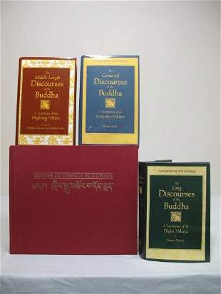 FOUR HARDCOVER BUDDHISM BOOKS