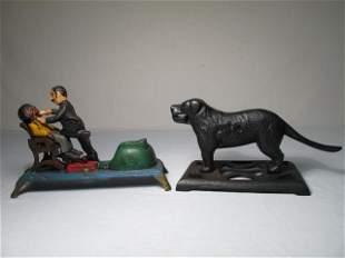 CAST IRON DENTAL THEME TOY AND DOG NUTCRACKER