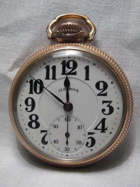 28: A GENTLEMANS POCKET WATCH: ILLINOIS WATCH BUNN SPEC