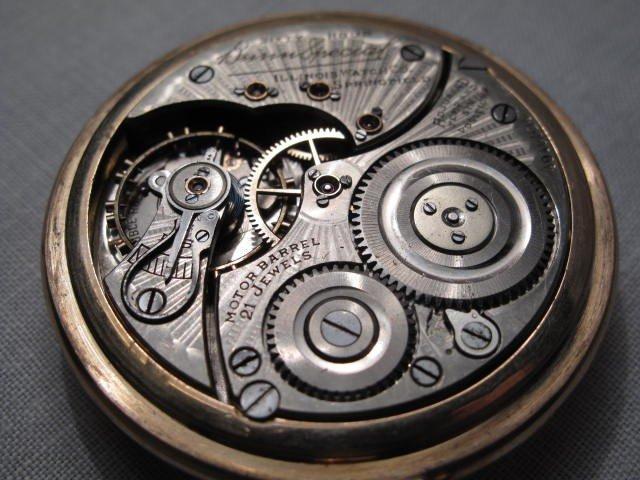 28: A GENTLEMANS POCKET WATCH: ILLINOIS WATCH BUNN SPEC - 7