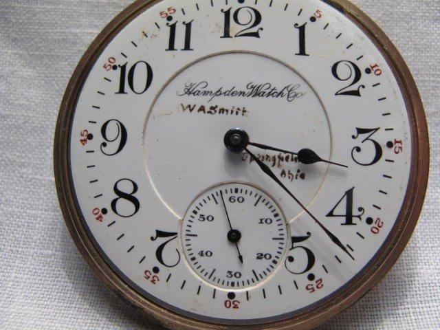 84: A GENTLEMANS POCKET WATCH: HAMPDEN WATCH CO - 3
