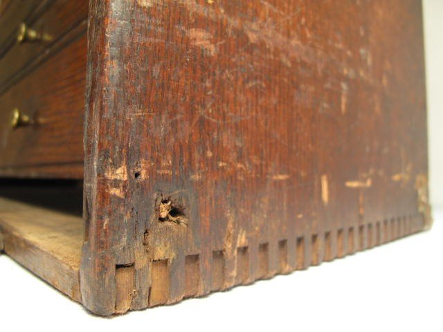 109: ANTIQUE WOODEN MACHINISTS TOOLBOX - 6
