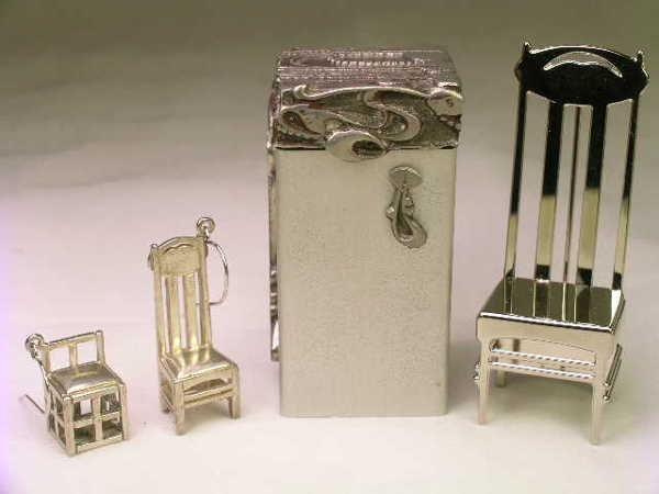 9: STERLING SILVER FIGURAL JEWELRY & MATCH HOLDER