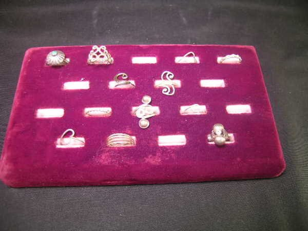 10: GROUP ASST STERLING SILVER HAND MADE RINGS 12 PCS