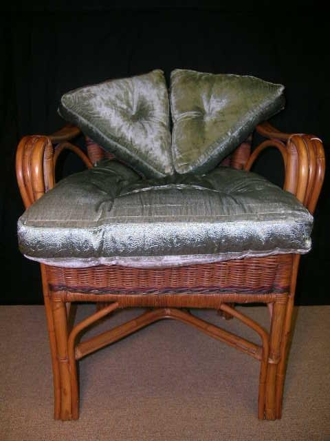16: STRATFORD HOME BAMBOO FRAME ARMCHAIR CUSHIONED