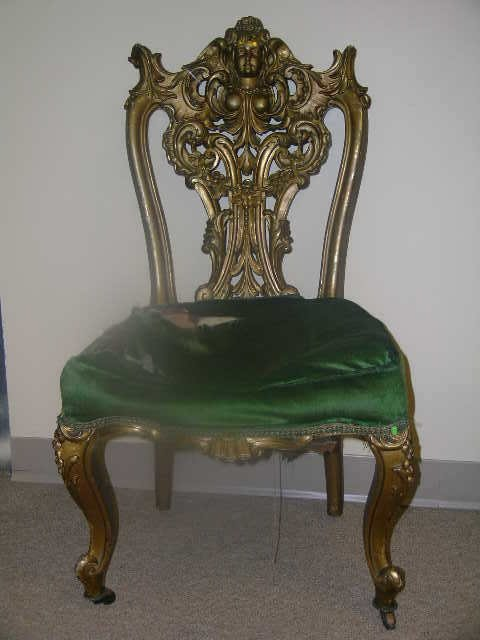 24: 19TH CENTURY ROCOCO STYLE CHAIR ORNATELY CARVED