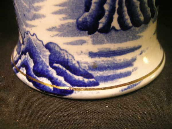 103: BURLEIGH WARE WILLOW BLUE WHITE PITCHER - 6