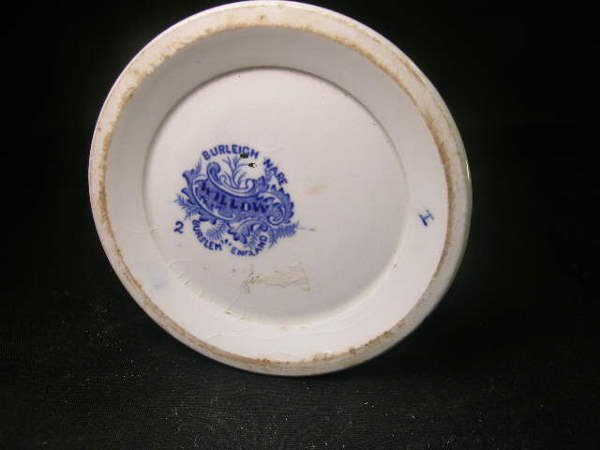 103: BURLEIGH WARE WILLOW BLUE WHITE PITCHER - 7