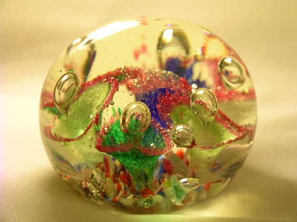363: GROUP ASSORTED GLASS COLLECTIBLE PAPERWEIGHTS - 3