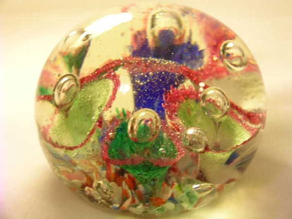 363: GROUP ASSORTED GLASS COLLECTIBLE PAPERWEIGHTS - 4