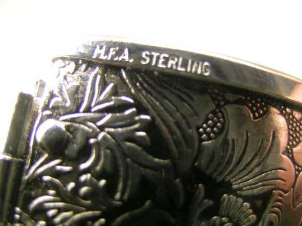 459: M F A STERLING SILVER PURSE SHAPED PILL BOX - 7