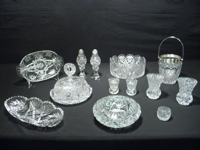 1: CUT CRYSTAL AND GLASS