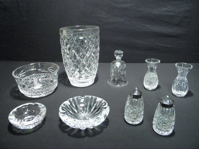 7: ASSORTED WATERFORD CUT CRYSTAL 9 PCS