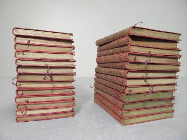 12: RUDYARD KIPLING LEATHER BOUND BOOK SET 25 PCS