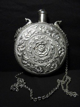 STERLING SILVER DRINKING CANTEEN