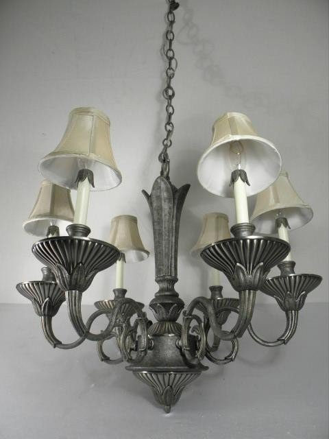 160: CONTEMPORARY SIX ARM HANGING CHANDELIER