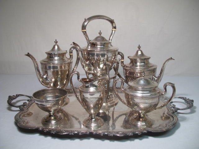 180: GORHAM STERLING SILVER TEA & COFFEE SERVICE
