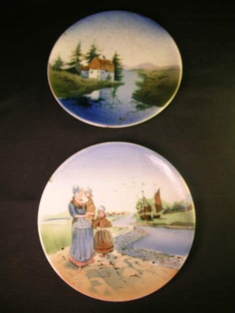 7: PR PORCELAIN SAXONY PLATES WALL HANGING