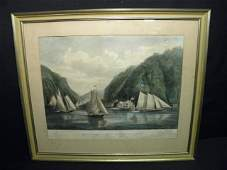 75 LARGE FOLIO CURRIER  IVES  LITHOGRAPH ENTRANCE TO