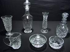 113 GROUP WATERFORD  OTHER CUT CRYSTAL 7pc