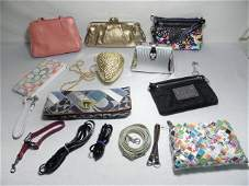 378 NINE ASSORTED LADIES HANDBAGS COACH NINE WEST ETC
