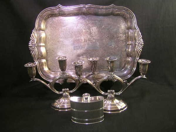409: ASST ROGERS W S BLACKINTON SILVER PLATE PEWTER 3 P