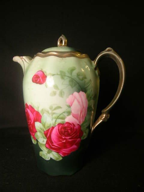 410: ROYAL VIENNA ROSE DECORATED CHOCOLATE POT
