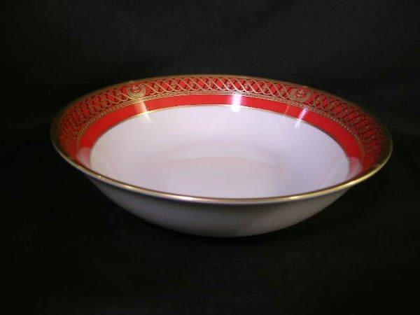 412: CHRISTIAN DIOR AMBASSADIOR PORCELAIN BOWL RED WHIT