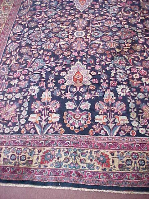 296: ANTIQUE PERSIAN MASHAD CARPET 10' BY 8'