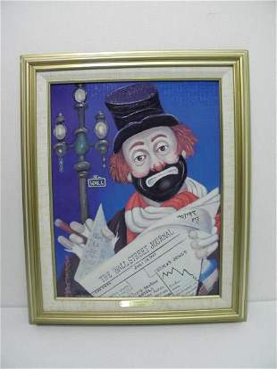 """RED SKELTON LIMITED EDITION GICLEE: """"THE FINANCIER"""""""