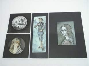 FOUR J. RITTER PAINTINGS ON COPPER
