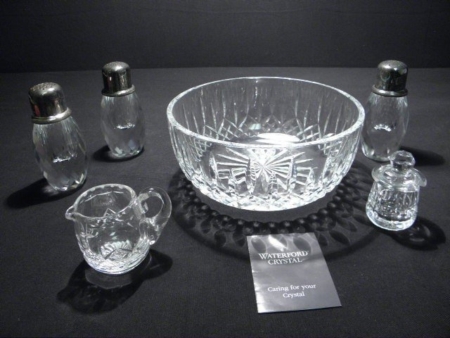 14: ASSORTED CUT CRYSTAL: WATERFORD STUART STERLING ETC